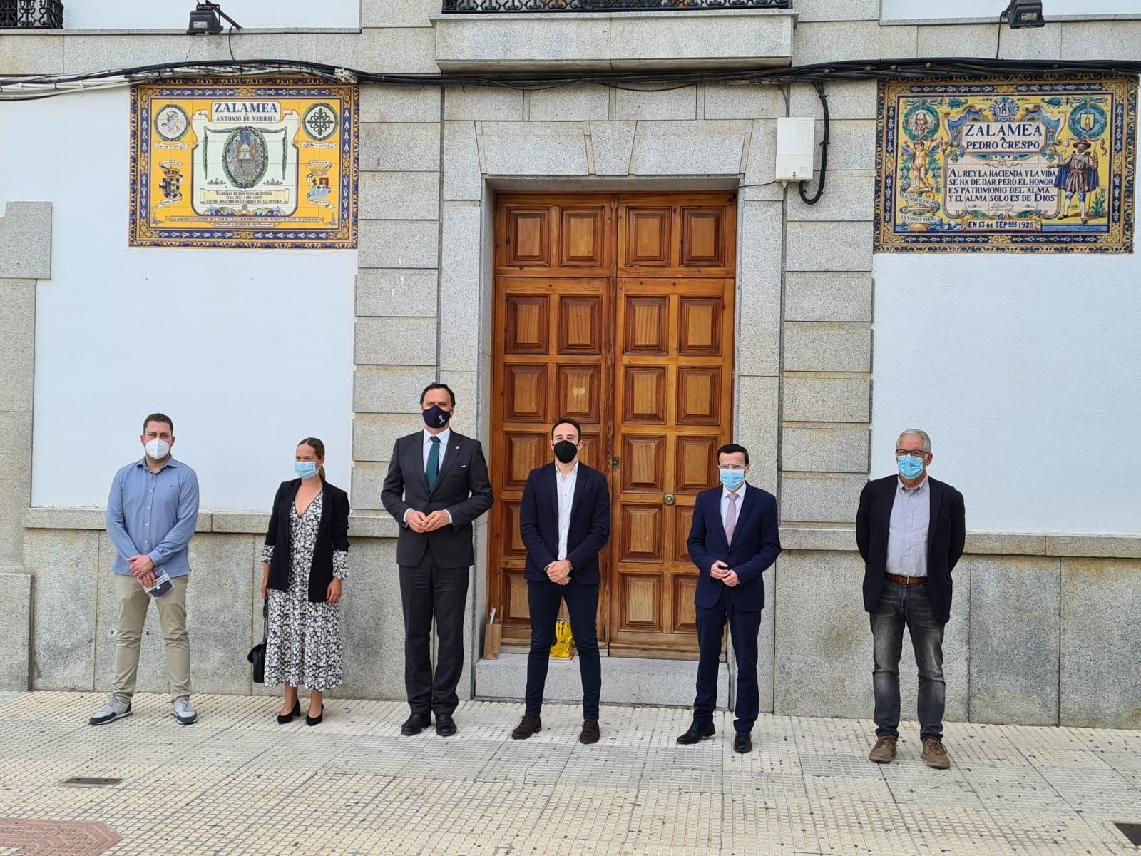 Reunión Alcaldes de Lebrija, Zalamea de la Serena y Villanueva de la Serena y Presidente de la Diputación de Badajoz  (2)
